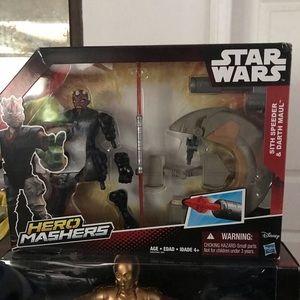 Star Wars Hero Mashers Sith Speeder and Darth Maul